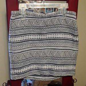 H&M geo print mini skirt